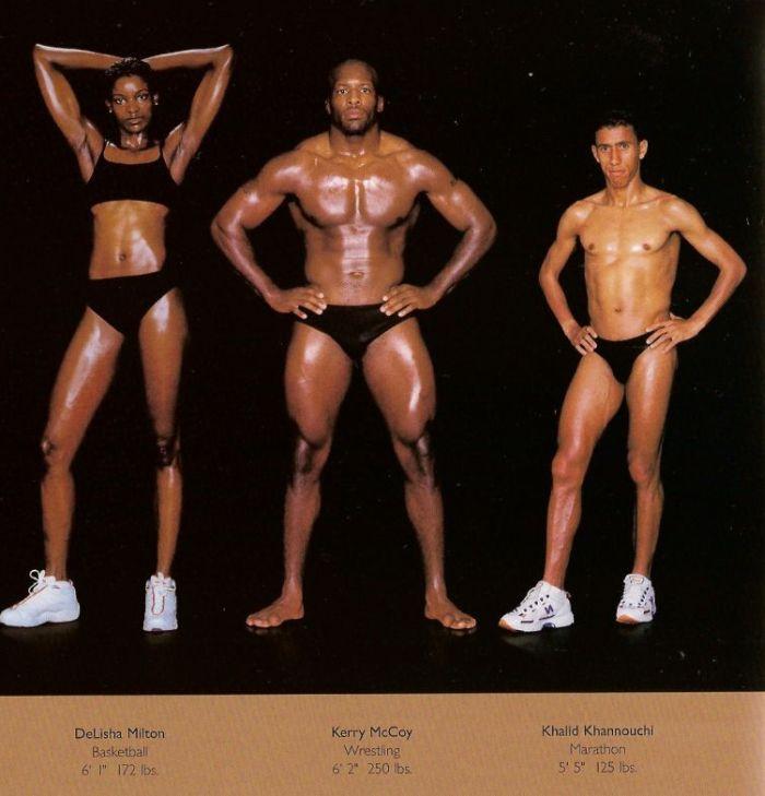 Diferentes esportes supõem diferentes tipos de corpos 19