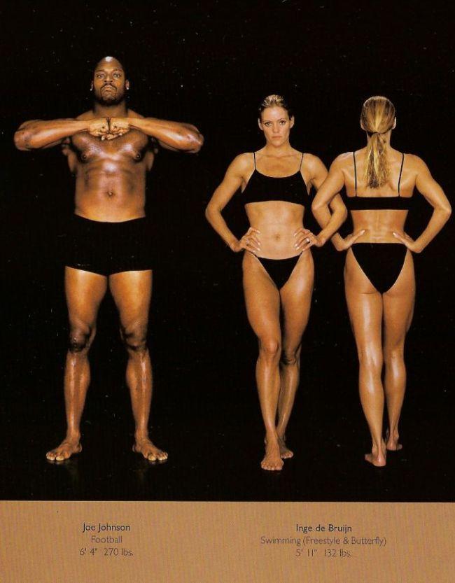 Diferentes esportes supõem diferentes tipos de corpos 20