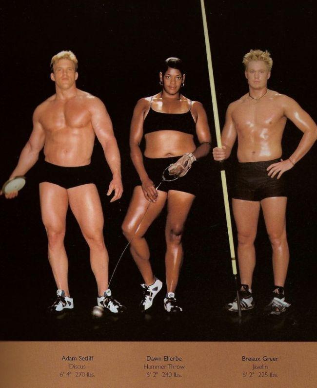 Diferentes esportes supõem diferentes tipos de corpos 22