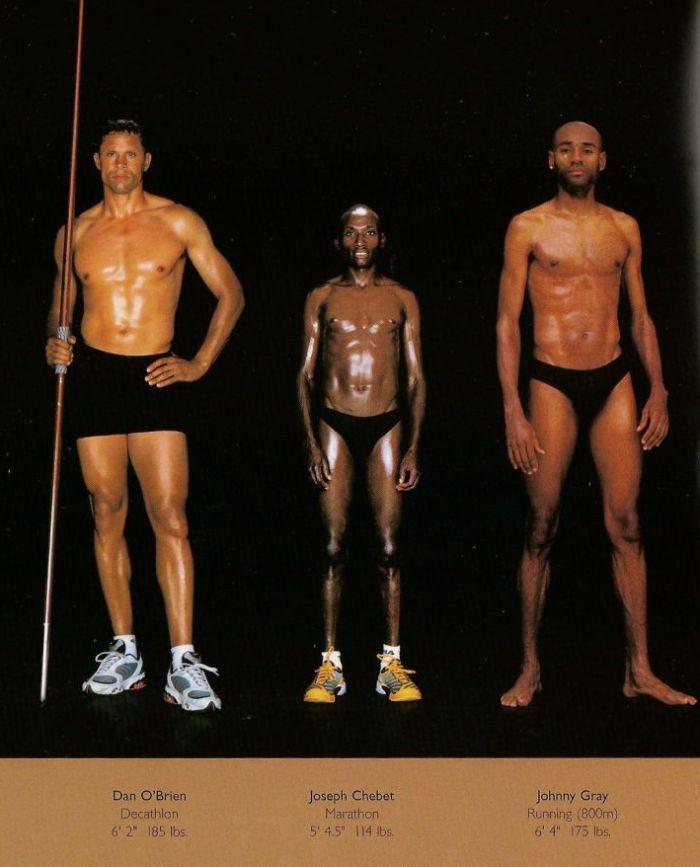 Diferentes esportes supõem diferentes tipos de corpos 27