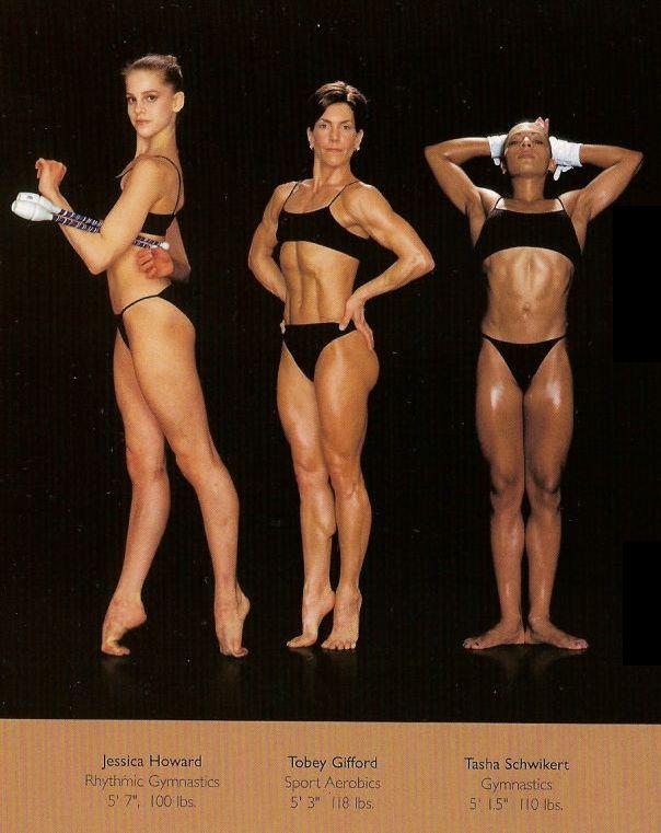 Diferentes esportes supõem diferentes tipos de corpos 30