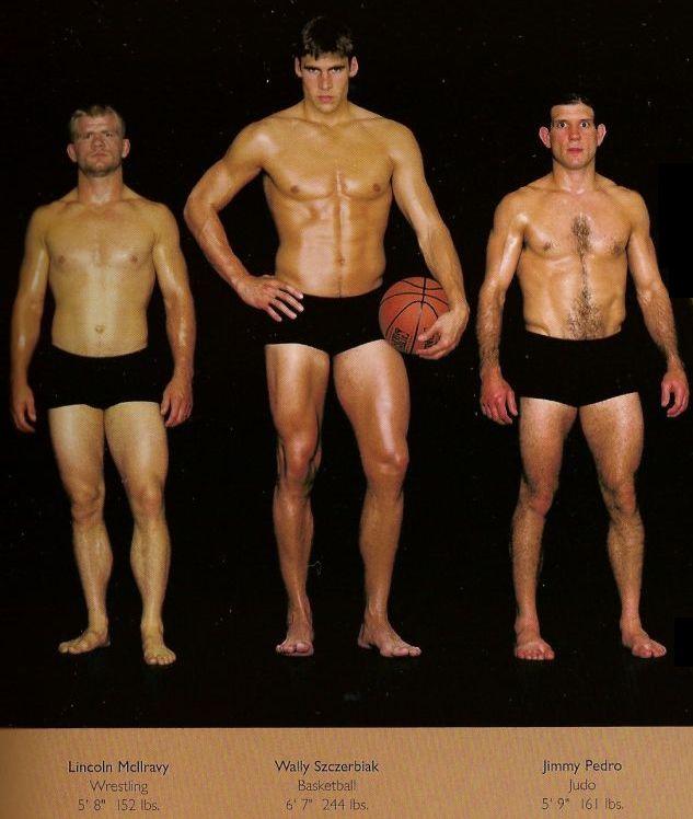 Diferentes esportes supõem diferentes tipos de corpos 32