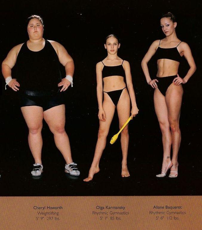 Diferentes esportes supõem diferentes tipos de corpos 35