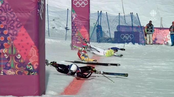Tombo no ski cross em Sochi 2014 2014 02