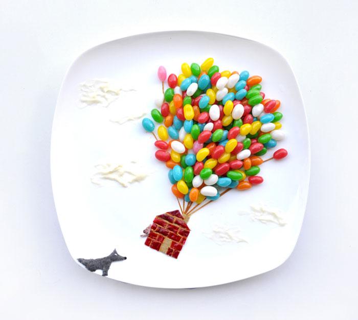 Mais arte com comida por Hong Yi e Ida Skivenes 05