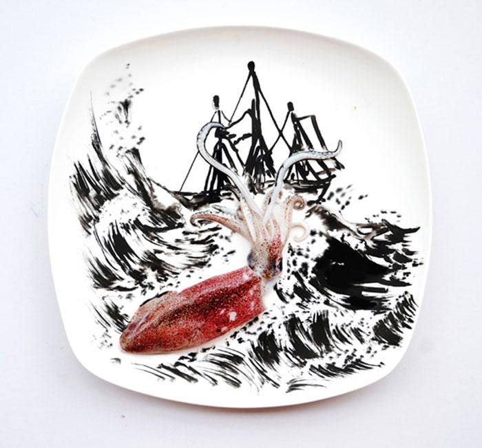 Mais arte com comida por Hong Yi e Ida Skivenes 14