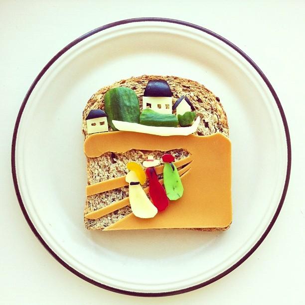 Mais arte com comida por Hong Yi e Ida Skivenes 02