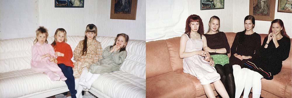 Quatro irmãs adoráveis recriam fotos de seu álbum de infância 02