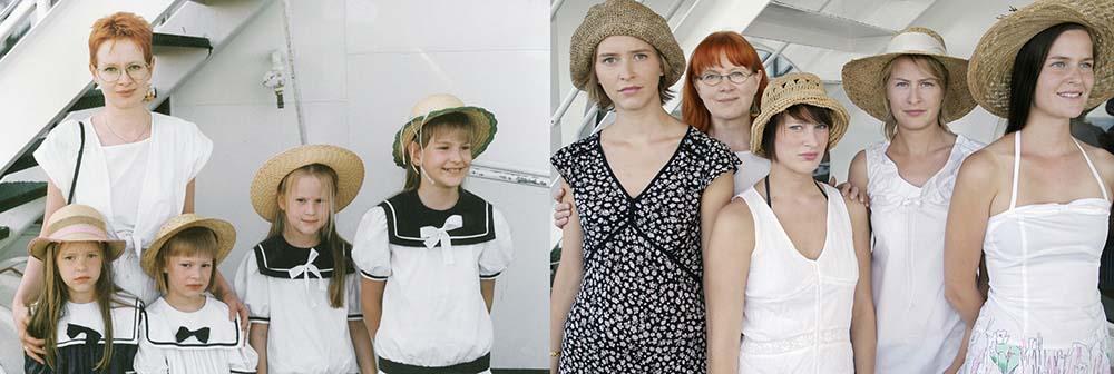 Quatro irmãs adoráveis recriam fotos de seu álbum de infância 04