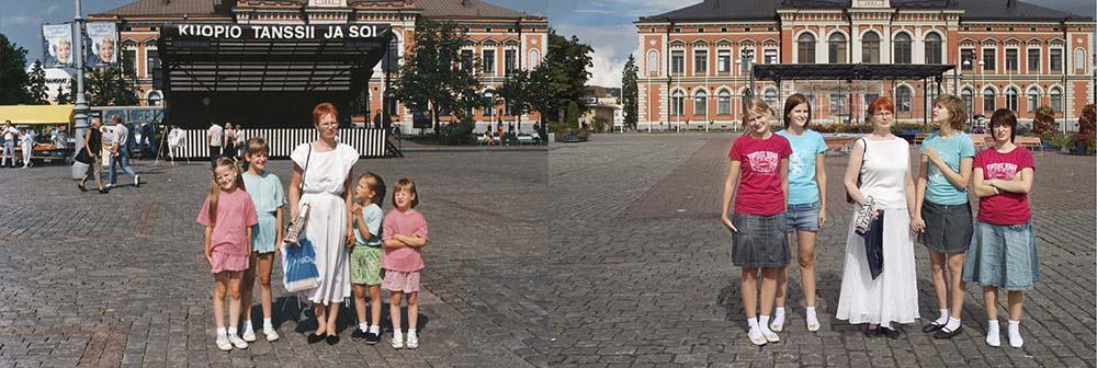 Quatro irmãs adoráveis recriam fotos de seu álbum de infância 05