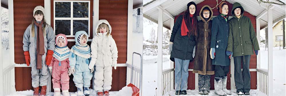 Quatro irmãs adoráveis recriam fotos de seu álbum de infância 07