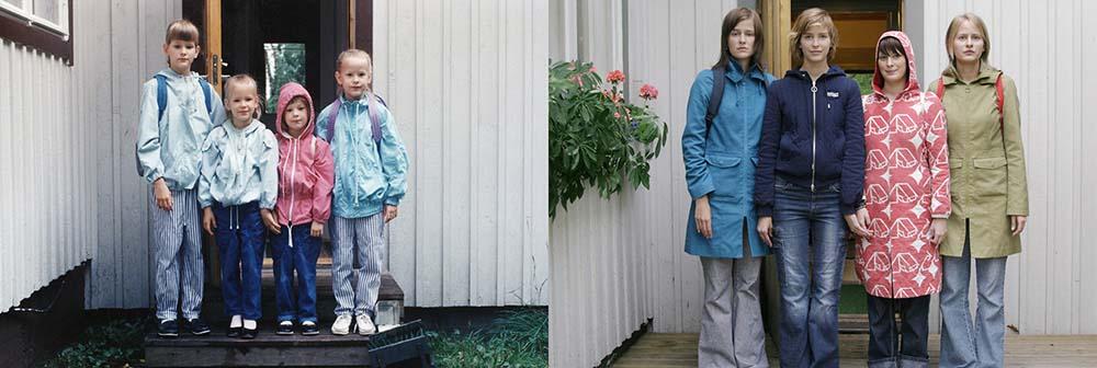 Quatro irmãs adoráveis recriam fotos de seu álbum de infância 10