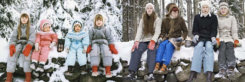 Quatro irmãs adoráveis recriam fotos de seu álbum de infância 12