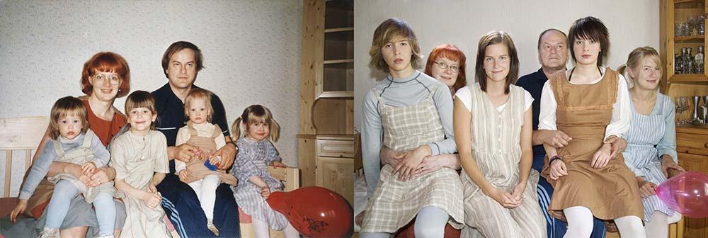 Quatro irmãs adoráveis recriam fotos de seu álbum de infância 13