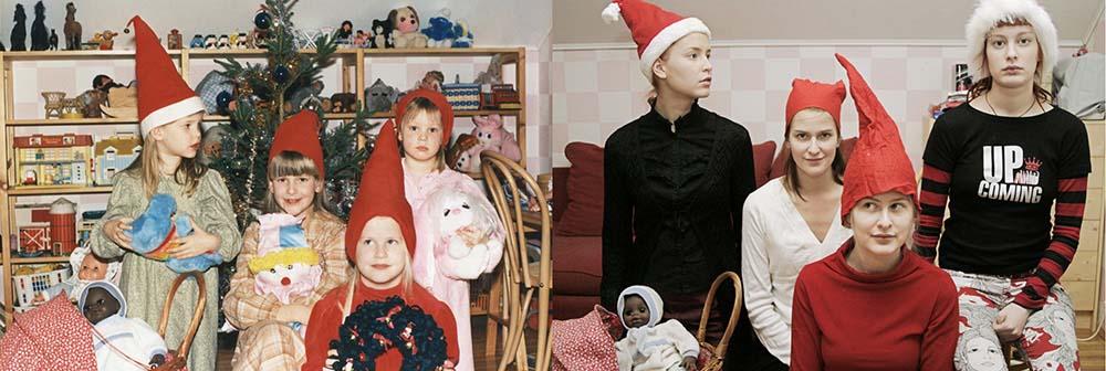 Quatro irmãs adoráveis recriam fotos de seu álbum de infância 17