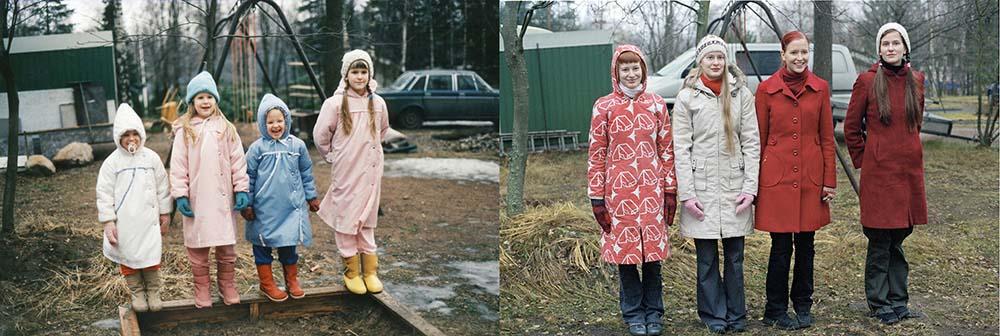 Quatro irmãs adoráveis recriam fotos de seu álbum de infância 20