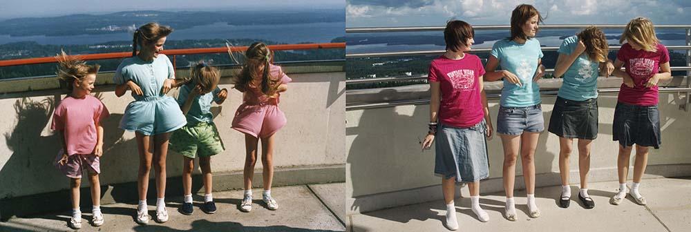 Quatro irmãs adoráveis recriam fotos de seu álbum de infância 24