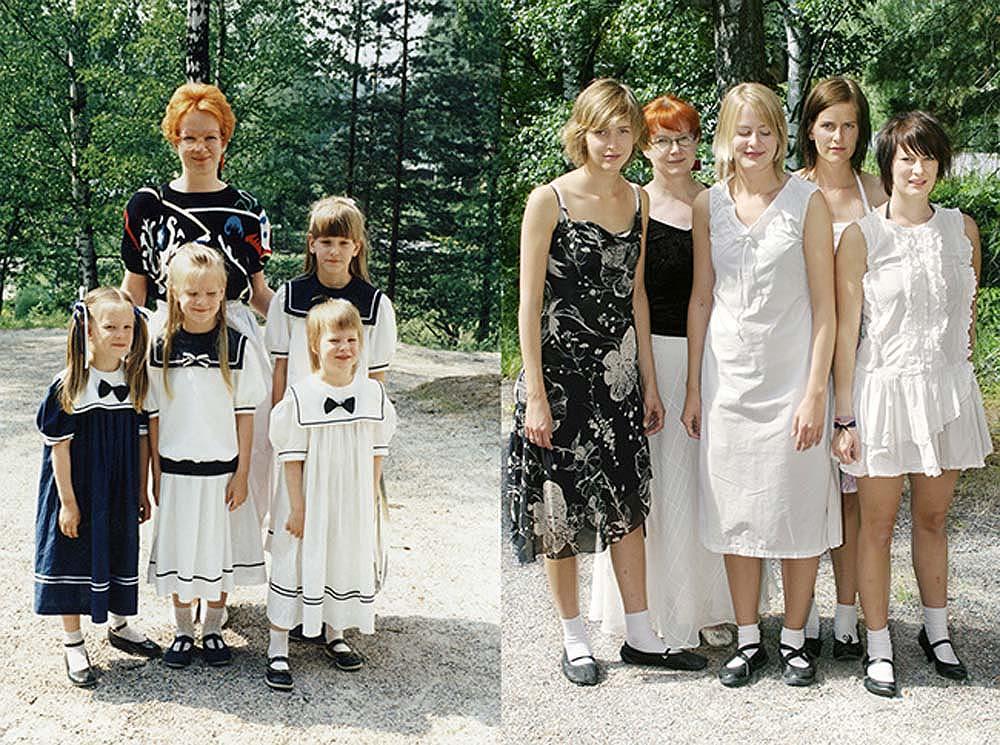 Quatro irmãs adoráveis recriam fotos de seu álbum de infância 27