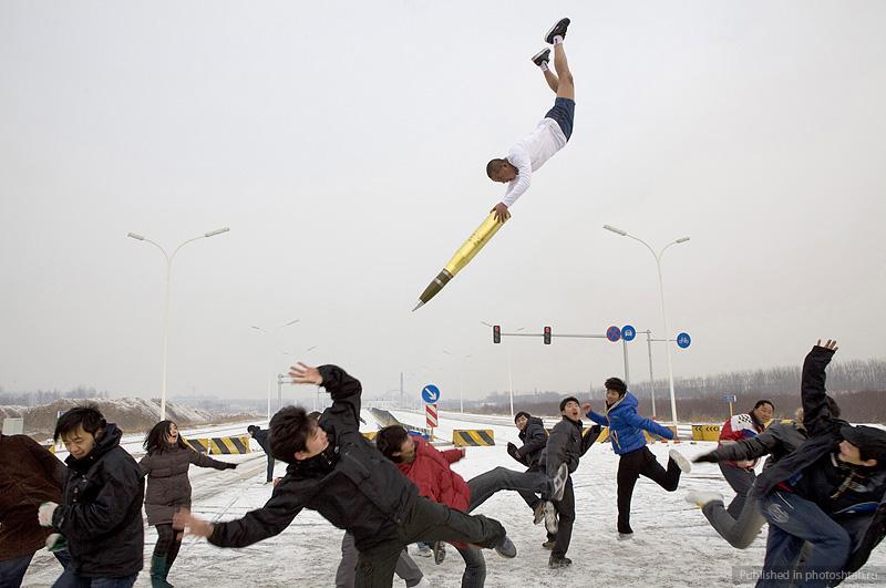 Desafiando a gravidade por Li Wei 14