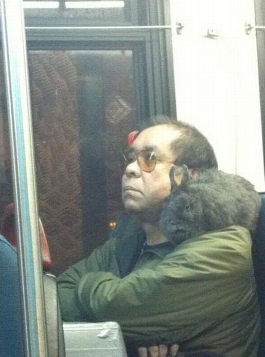 Gente esquisita dos transportes públicos 05