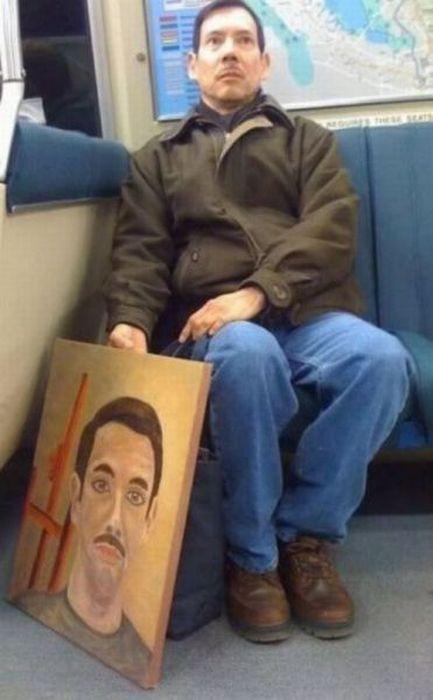 Gente esquisita dos transportes públicos 13