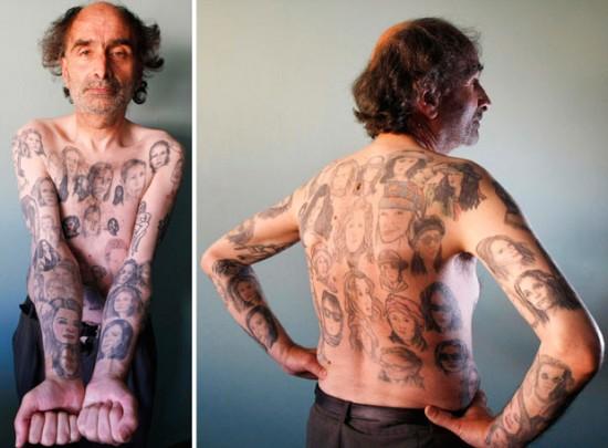 Fã de Julia Roberts exibe 82 tatuagens com sua imagem
