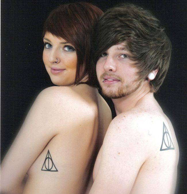 Tatuagens de casal terríveis 08