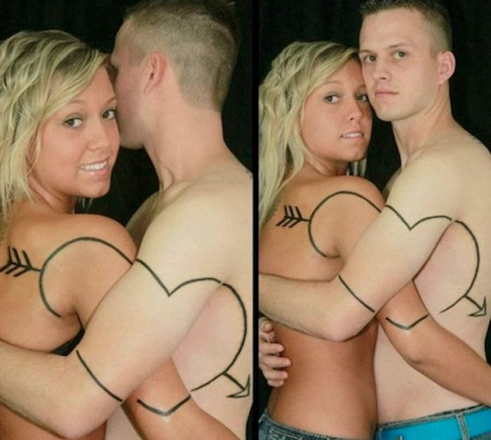 Tatuagens de casal terríveis 13