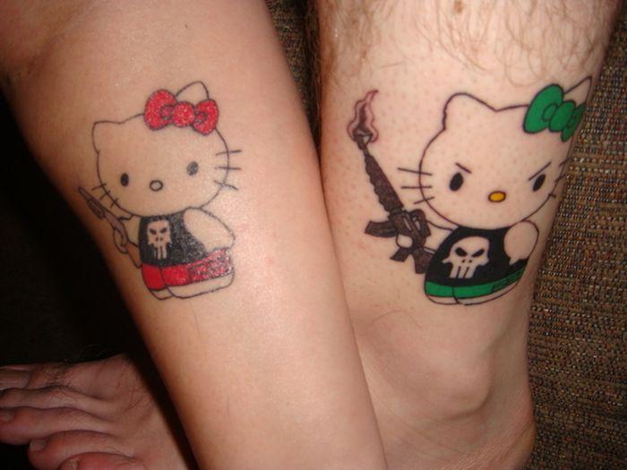 Tatuagens de casal terríveis 33