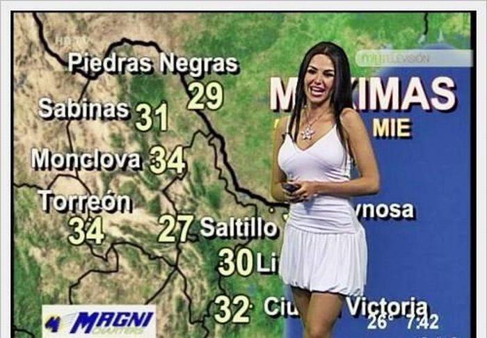Moça do tempo: México versus Oriente Médio 02