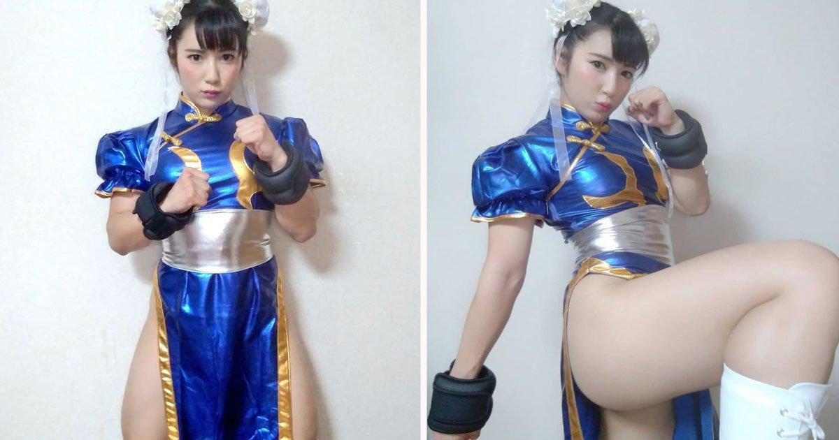 Cosplayer japonesa alcança fama viral por causa de suas coxas enormes 01