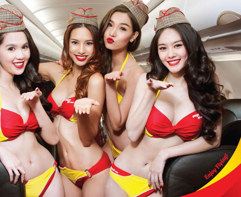 Vietnamita está prestes a se tornar a primeira bilionária do Sudeste Asiático por empresa aérea que emprega aeromoças de biquíni 01