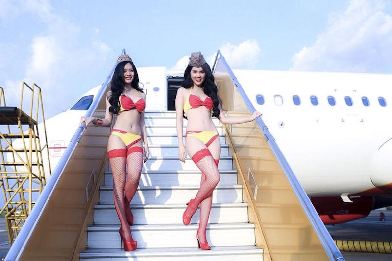 Vietnamita está prestes a se tornar a primeira bilionária do Sudeste Asiático por empresa aérea que emprega aeromoças de biquíni 05