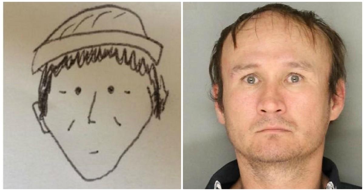 O pior retrato falado de todos os tempos ajudou a polícia a identificar o suspeito