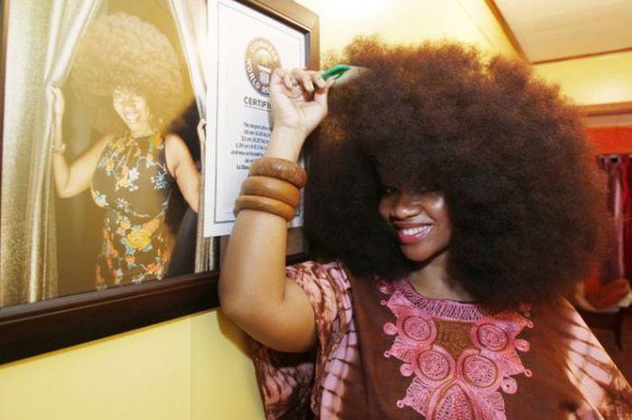 Conheça Aevin Dugas, a orgulhosa dona do maior penteado afro do mundo 19