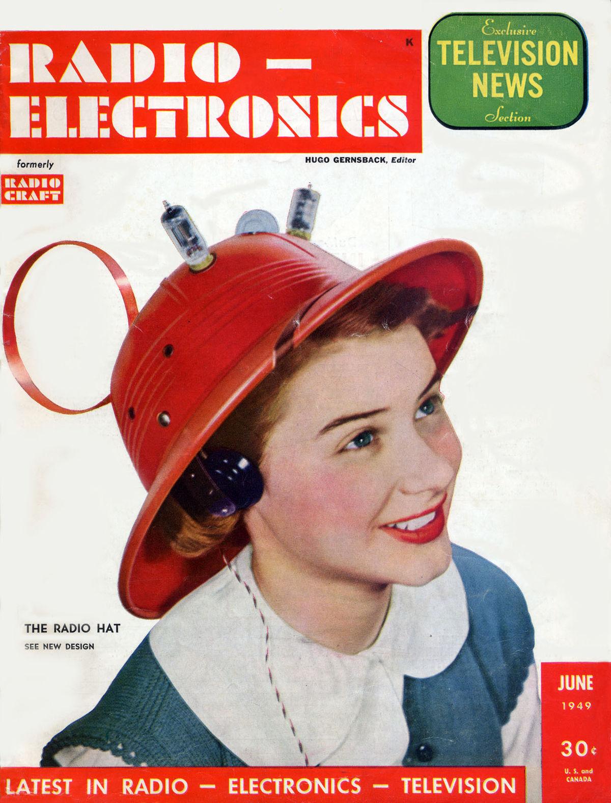 A história do futurista chapéu com rádio de 1949 11