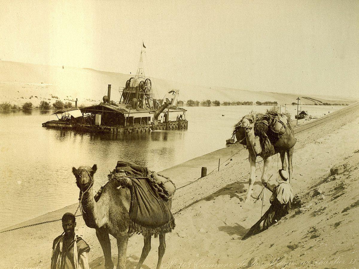Magníficas imagens capturam as maravilhas antigas e modernas do século XIX no Egito 25