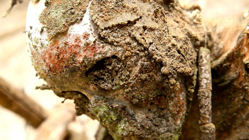 As m�mias defumadas de Aseki, em Papua Nova Guin� 07