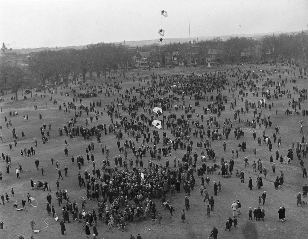 Na Primeira Guerra Mundial desenvolveram pipas de içamento para que homens pudessem fazer reconhecimento aéreo 15