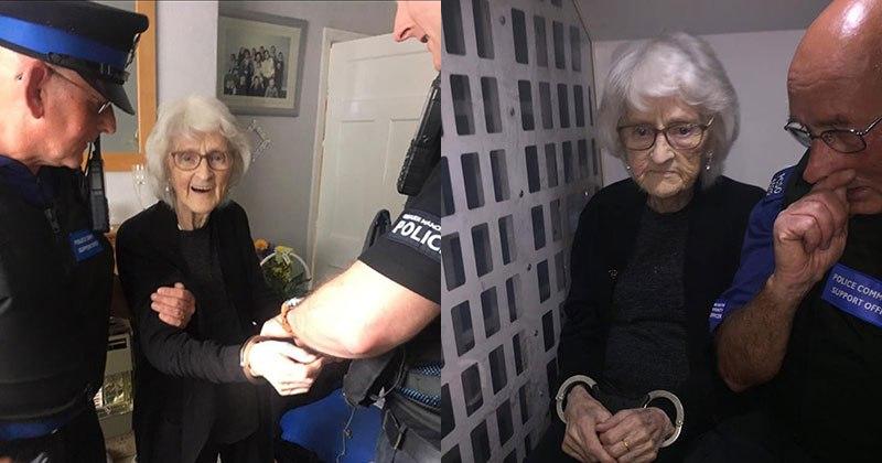 O maior desejo dessa vovó de 93 anos era ser presa pelo menos uma vez 01