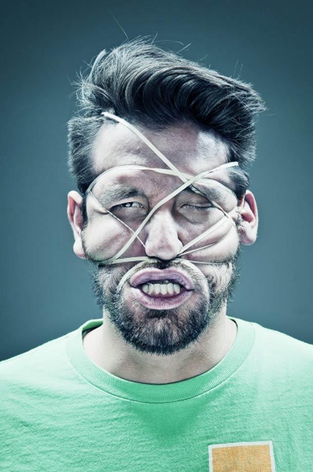 Retratos deformados com elásticos 10
