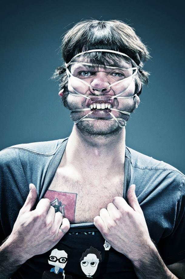 Retratos deformados com elásticos 11