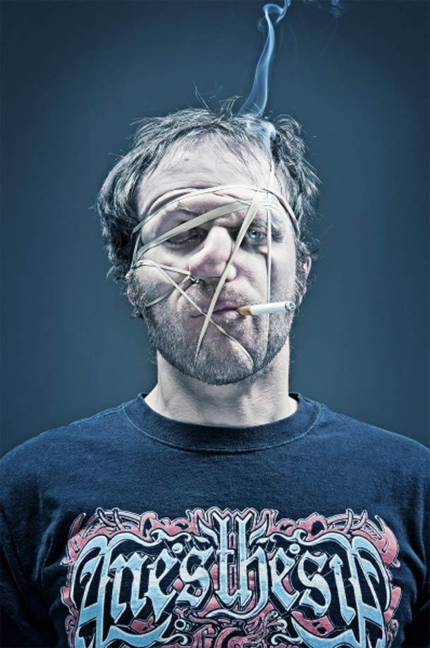 Retratos deformados com elásticos 14
