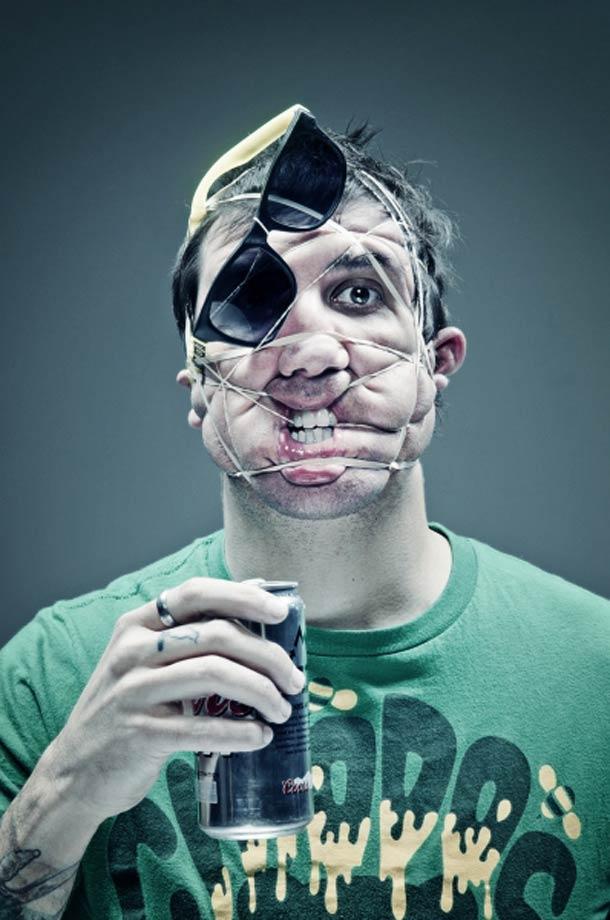 Retratos deformados com elásticos 17