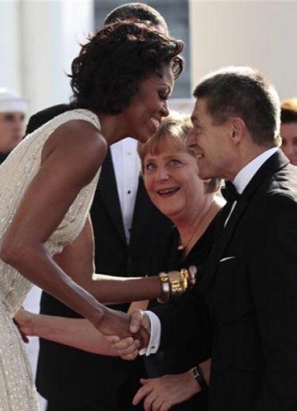 Angela Merkel tem uma coisa para Michelle Obama 06