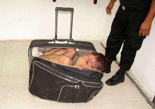 Narcotraficante mexicano tentou escapar da prisão em uma mala