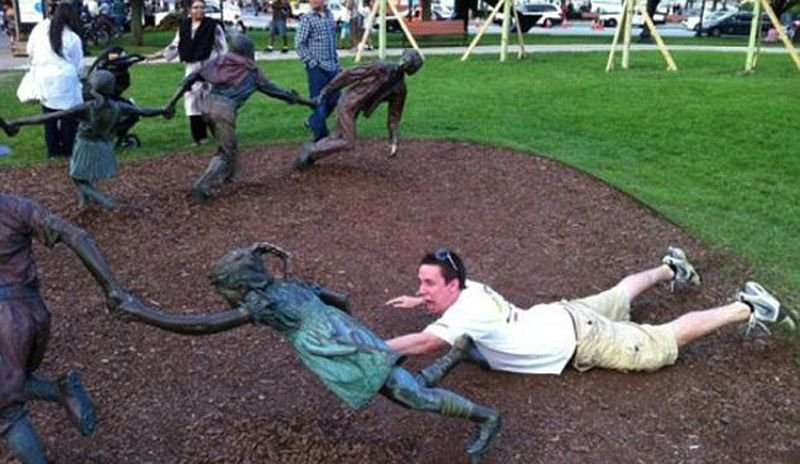 Diversão com estátuas 10