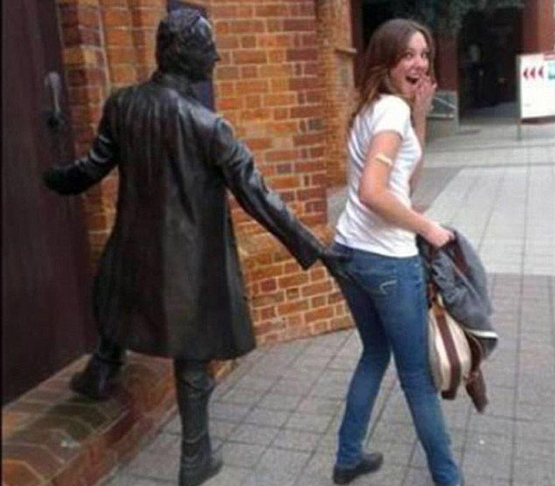 Diversão com estátuas 11