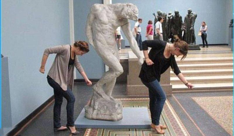 Diversão com estátuas 13