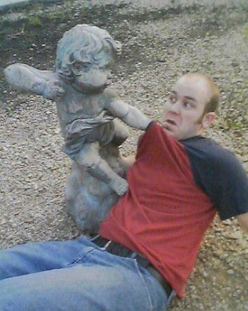 Diversão com estátuas 35